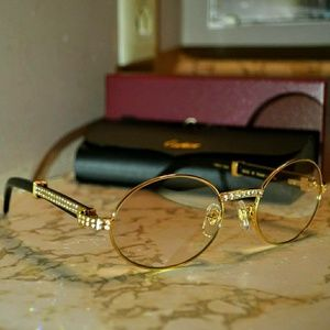 Iced out Vintage Cartier Giverny Sunglasses
